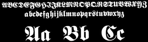История готического шрифта